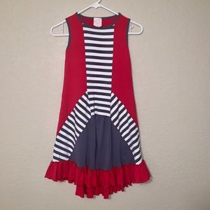 Lemon loves Lime Red, White & Blue Dress Size 7